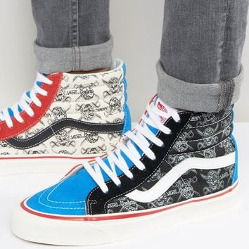 Vans Sk8-Hi 38 Canvas Trainers In Black VA2XS1JSO