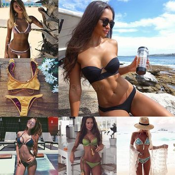 Cssayavi Hot Bikinis 2017 Sexy Swimwear Women Swimsuit Summer Bathing Suit Bandage Bikini Set Biquini Maillot De Bain