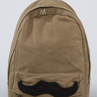 The Mustache Backpack in Olive