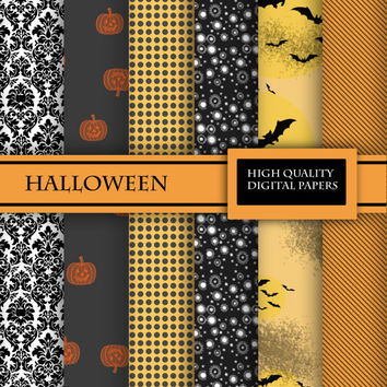 "Digital Paper Set for Scrapbooking ""Halloween"""