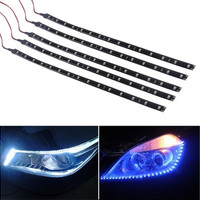 5 x 30cm Car Auto Truck Blue 15 SMD Ls Flexible Strip Light Lamp Waterproof  7_S [7735878086]