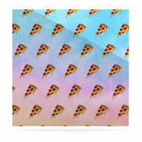 """Juan Paolo """"Lucid Pizza"""" Food Pattern Luxe Square Panel"""