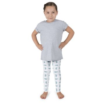 Bicycle Green and Blue Kid's leggings - White