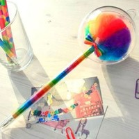 Ballpoint Pen Sakox Lollypop Fancy Beauty Fashion Stationery Long-Rainbow Ver.6