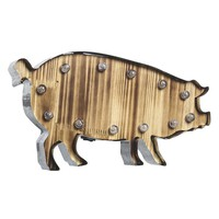 Pig LED Marquee Sign Wall Decor (Grey)