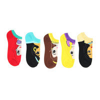 Disney Princesses Full Body No-Show Sock 5 Pair