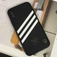 Black Striped ADIDAS Phone Case for iPhone