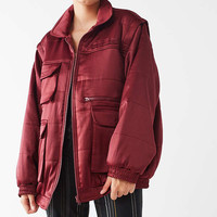 UO Dawson Bomber Puffer Jacket | Urban Outfitters