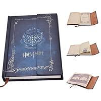 Blue Harry Potter Vintage Notebook Diary Book Hard Cover Notebook Notepad Agenda Planner Gift
