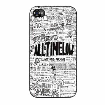 All Time Low Quotes Art iPhone 4 Case