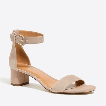 Suede block heel sandals : FactoryWomen Occasion | Factory