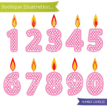 Pink Number Candles Clipart. Girls Birthday Clipart. Pink Candles Clip Art. Girls Birthday Clipart. Numbers Clipart. Birthday Digital.
