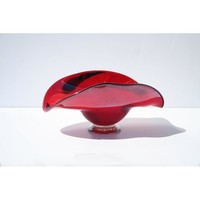 Hand-blown Glass Decorative Burnt Orange Dish | Overstock.com Shopping - The Best Deals on Accent Pieces