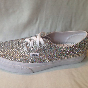 Genuine Rhinestone Crystal Authentic Vans Shoes- Bridal Prom Trainers d3694487c