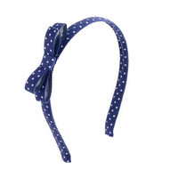 Girls' polka dot bow headband