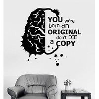 Vinyl Wall Decal Motivation Inspiration Quote Brain Stickers Unique Gift (ig3671)
