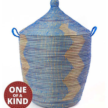 Extra Large Handmade Senegal Hamper with Lid