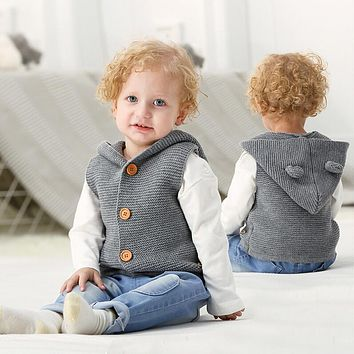 MUQGEW girls clothes Kids baby clothing Girls waistcoat Winter Warm Clothes Vest Blouse Thick Coat Outwear