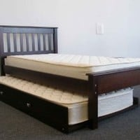 Bedz King Twin Bed with Trundle, Cappuccino