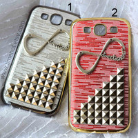 One Direction Silver Pyramid Studded Samsung Galaxy S3 Case--two color you can choose