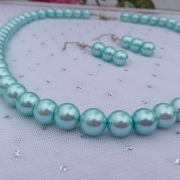 Tiffany Blue Jewelry, Tiffany Blue Wedding, Tiffany Blue Pearl Necklace