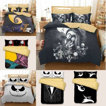 Luxury Skull Bedding Nightmare  Bedding Set Qualified Bedclothes  Unique king size bedding set  Duvet Cover Twin Full Queen