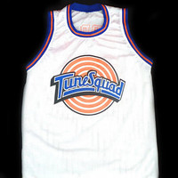 Bill MURRAY #22 Tune Squad Space Jam Movie Jersey White Any Size XXS to 5XL