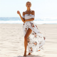 Long Maxi Dress with Floral Print