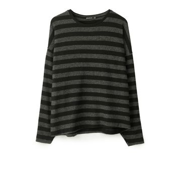 Napped striped T-shirt - T-shirts | Stradivarius Denmark