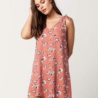 IVY & MAIN Floral Shoulder Tie Dress | Short Dresses