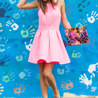 The Elle Dress, Hot Pink
