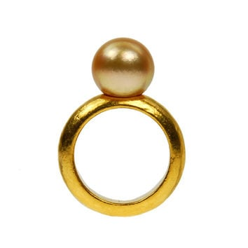 24 Karat Yellow Gold South Sea Pearl Ring