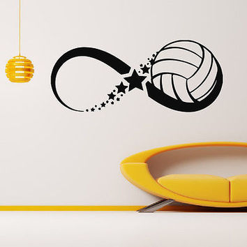 WALL DECAL VINYL STICKER GYM SPORT BASKETBALL BALL INFINITY DECOR SB245