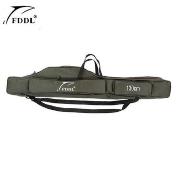 VONL8T FDDL 120/130/150cm Fishing Bags Rod Pesca Carrier Canvas Fishing Lure Pole Tools Backpack Case Fishing Real Gear Tackle Bag