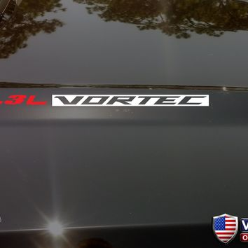 4.3L VORTEC Hood Vinyl Decals Stickers Fit: Chevrolet Silverado GMC Sierra V6