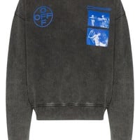 Charcoal Grey and Cool Blue Sweatshirt by OFF-WHITE