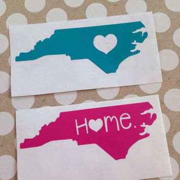 Any State Car Decal | State Home Decal | State Car Decal | Home Car Decal | Heart State Decal |
