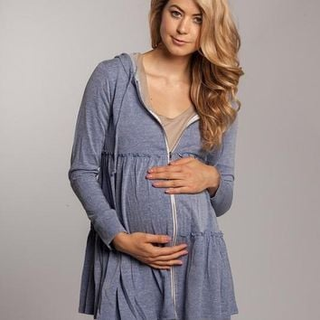 Women's Cozy Zip Maternity Jacket