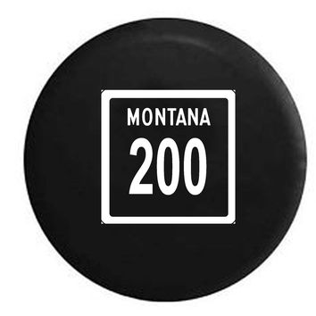 Montana State Route Highway 200 Scenic Road Sign RV Camper Jeep Spare Tire Cover