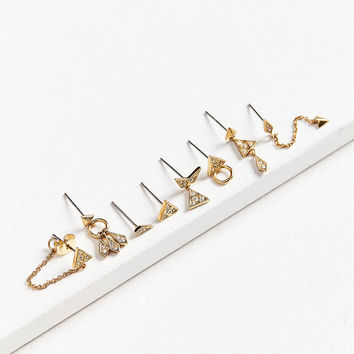 Luv Aj Pave Kite Mixed Post Earring Set | Urban Outfitters