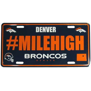 Denver Broncos Hashtag License Plate FHLP020