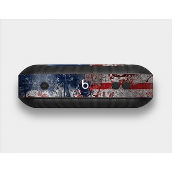 The Grungy American Flag Skin Set for the Beats Pill Plus