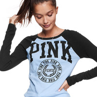 Ribbed Baseball Tee - PINK - Victoria's Secret