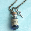 """drink me"" potion necklace"
