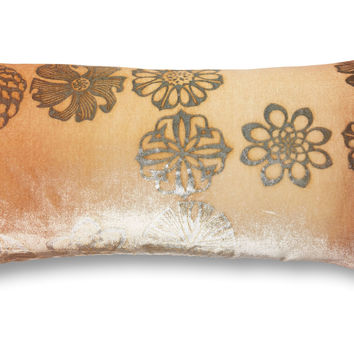 Dandy 7x15 Velvet Pillow, Gold, Decorative Pillows