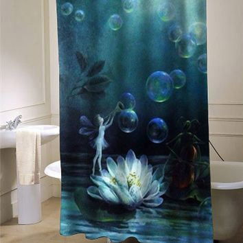 Fairy buble shower curtain - myshowercurtains
