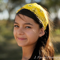 Headscarf Headband Lemon Yellow Hair Band Headscarves Head Scarf Head Wrap Bandana (Item 4019) BA