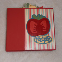 Handmade Recipe Book Scrapbook Album 6x6