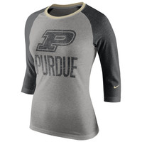 Purdue Boilermakers Nike Women's Raglan Long Sleeve T-Shirt – Gray