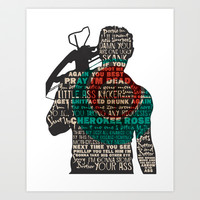 Daryl Dixon with Quotes Art Print by rlc82
